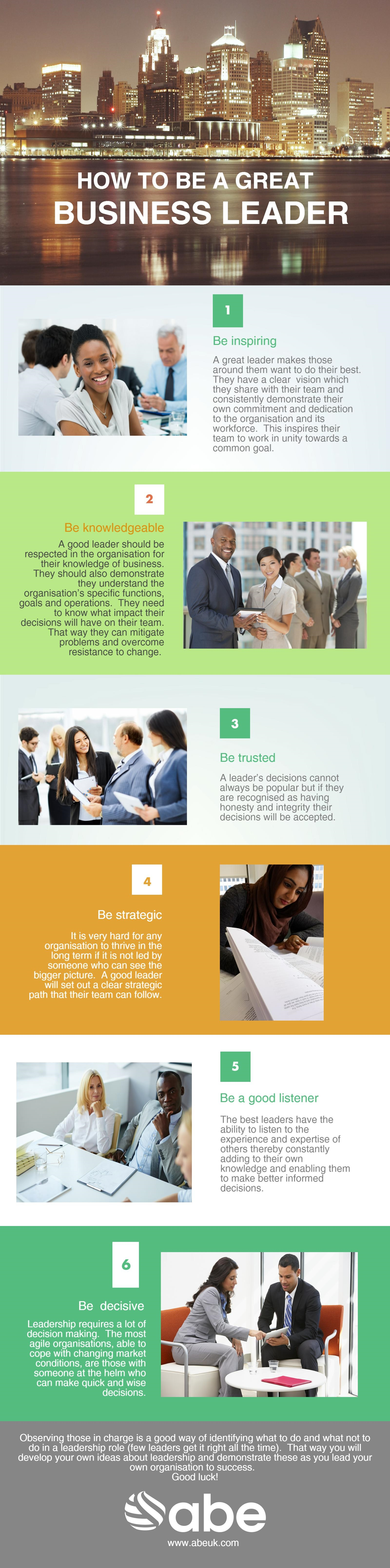 Business leader infographic