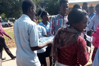 ABE providing material to students to help them complete their tertiary education